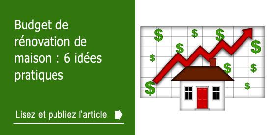 budget de r novation de maison 6 id es pratiques. Black Bedroom Furniture Sets. Home Design Ideas