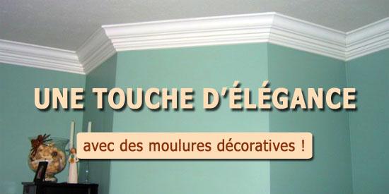 ayez une touche d l gance avec des moulures d coratives au plafond. Black Bedroom Furniture Sets. Home Design Ideas