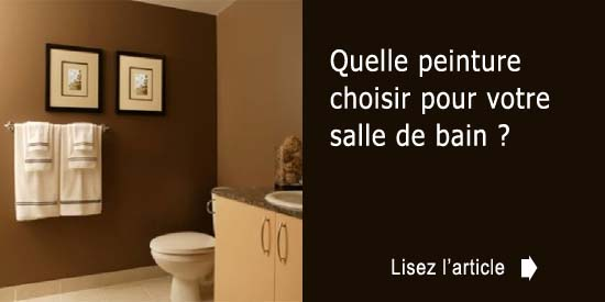 Quelle peinture choisir pour votre salle de bain for Couleur salle de bain bonne mine