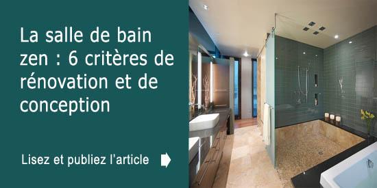 Déco de salle de bain zen : 6 critères de conception