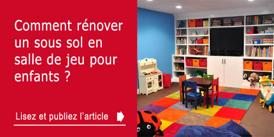 comment r nover un sous sol en salle de jeu pour enfants. Black Bedroom Furniture Sets. Home Design Ideas
