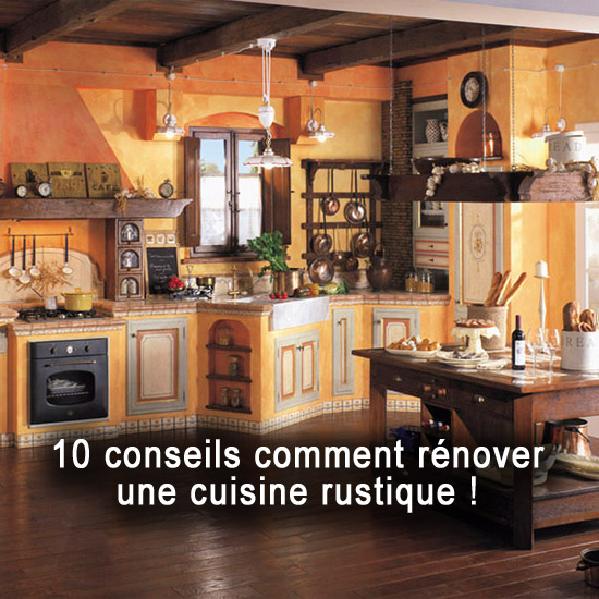 10 conseils comment r nover une cuisine rustique. Black Bedroom Furniture Sets. Home Design Ideas