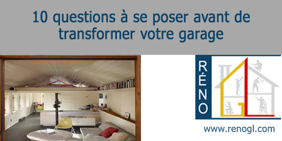 Finition int rieure de garage 10 questions pour transformer un garage - Transformer un garage en logement ...