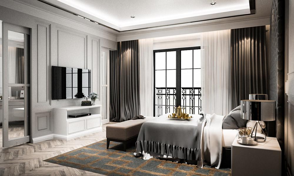 Belle apparence d'une chambre à coucher