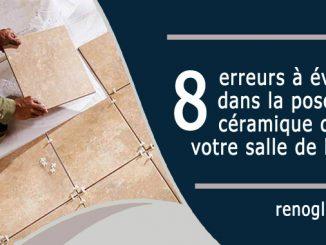 pose de céramique dans votre salle de bain