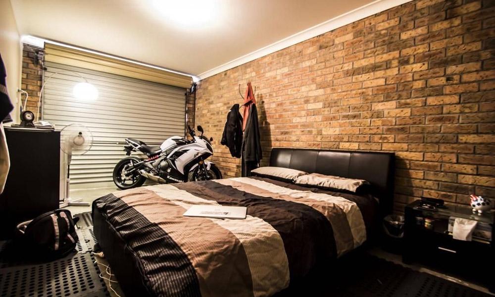 Espace de vie dans le garage