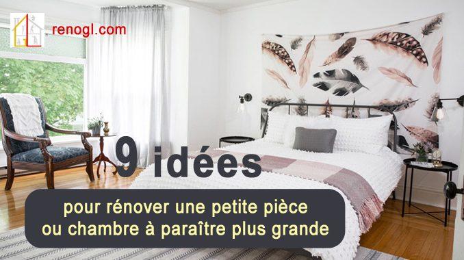 rénover une petite pièce ou chambre à paraître plus grande