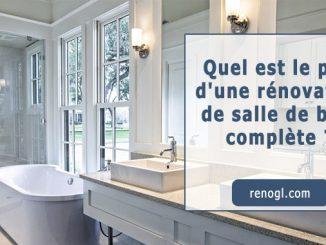 Prix d'une rénovation de salle de bain complète
