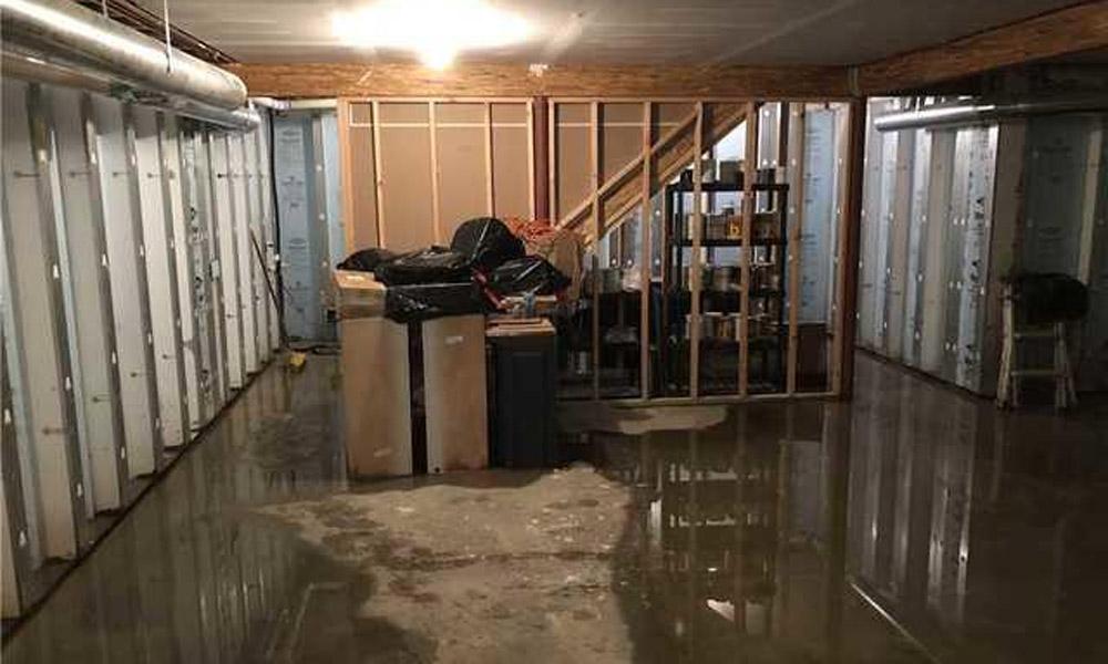 Dégât d'eau au sous-sol