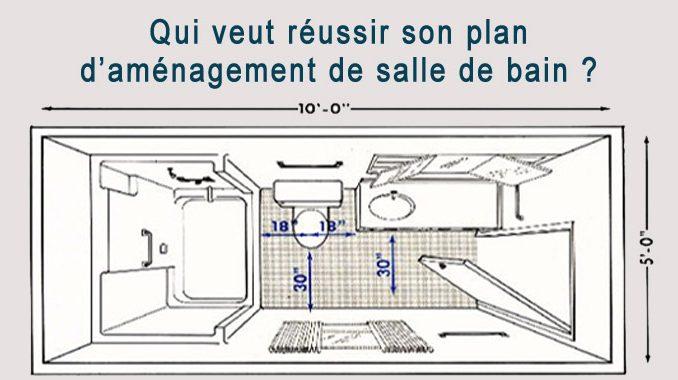 plan d'aménagement de salle de bain