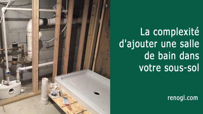 Ajouter une salle de bain dans votre sous-sol