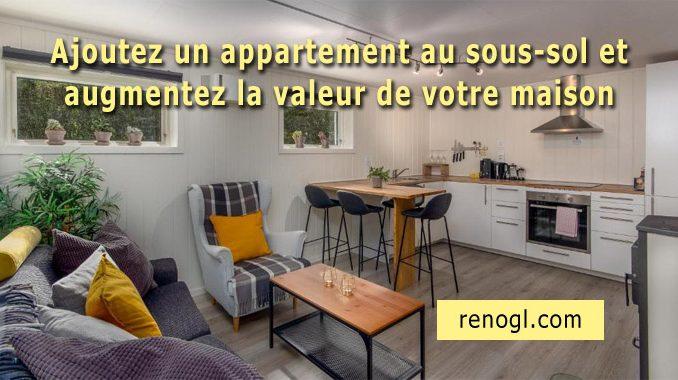 appartement au sous-sol