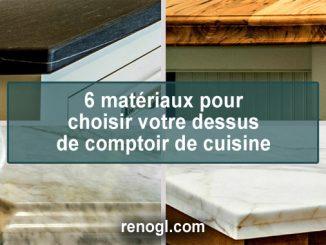 choisir votre dessus de comptoir de cuisine