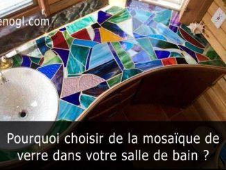 mosaïque de verre dans votre salle de bain
