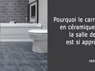 carrelage en céramique dans la salle de bain