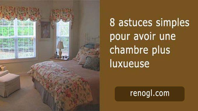 chambre à coucher luxueuse