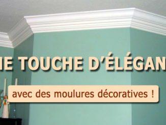 moulures décoratives au plafond