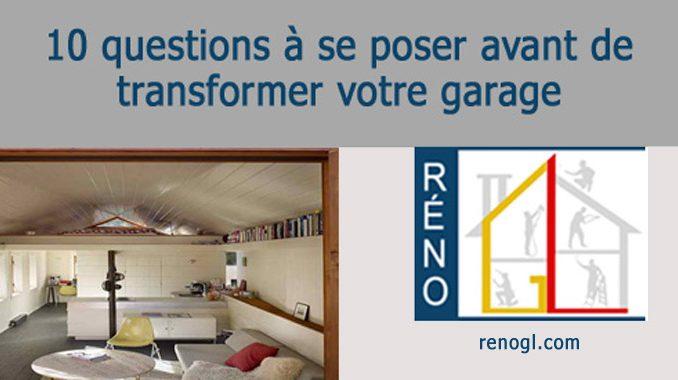 Transformez votre garage