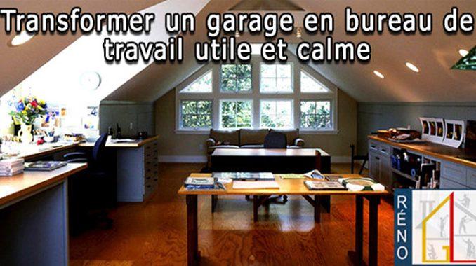garage en bureau de travail